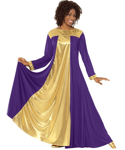 E-14820 Guiding Light Praise Dress purple