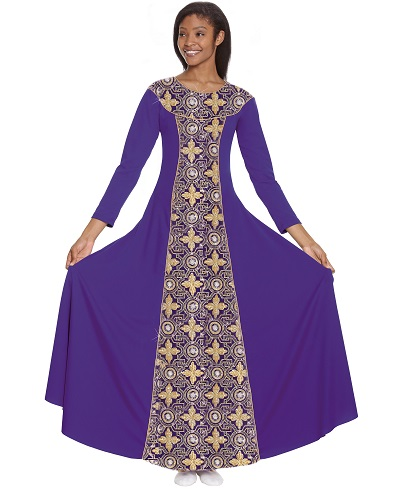 E-81119 Tabernacle Praise Dress purple