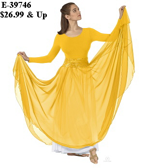 E-39746 - Sheer Devotion Skirt Overlay yellow