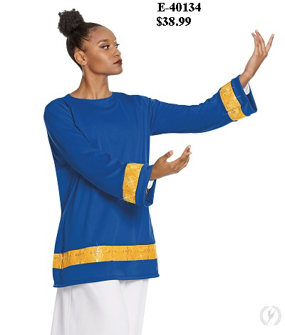 E-40134 Cross of Glory Praise Tunic royal