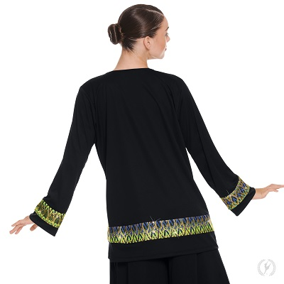 E-63134 Joyful Praise Unisex Tunic black