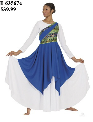 E-63567 Joyful Praise Asymmetrical Tunic