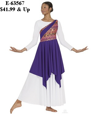 E-63567c Child Joyful Praise Asymmetrical Tunic