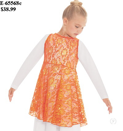 E-65568c Child Heavenly Lace Peplum Tunic