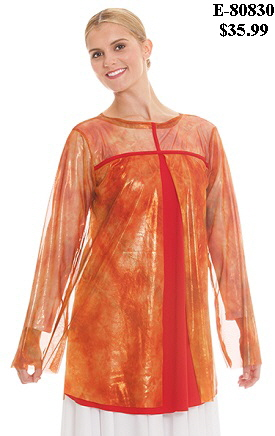E-80830 Flame of Fire Split Layer Tunic