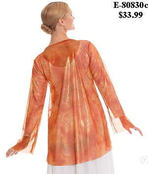 E-80830c Child Flame of Fire Split Layer Tunic