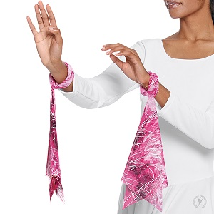 E-50859 Jewel Collection Wrist Scarves ruby